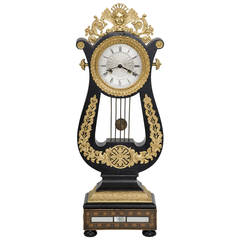 French Eight-Day Gilded Mantle Clock