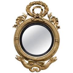 Rare American Federal Giltwood Convex Mirror, circa 1810