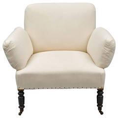 Unusual Antique French Napoleon III Small Armchair