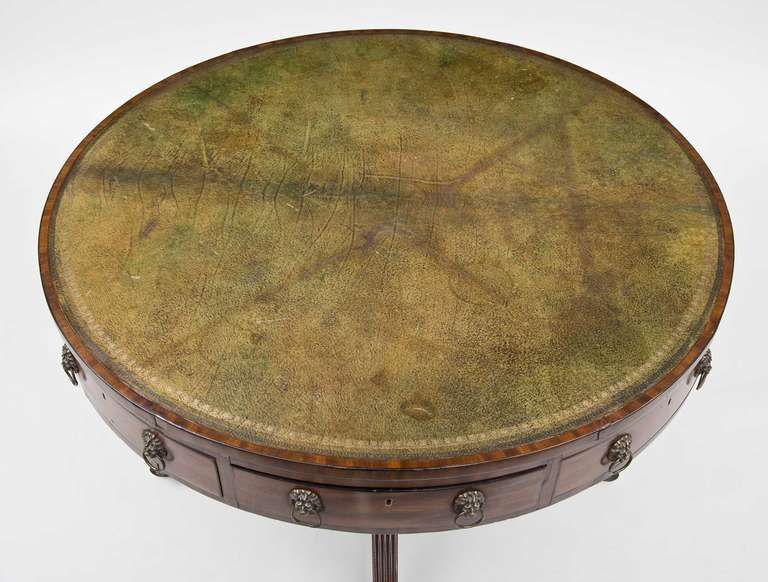 British Regency Drum Table, circa 1810 For Sale