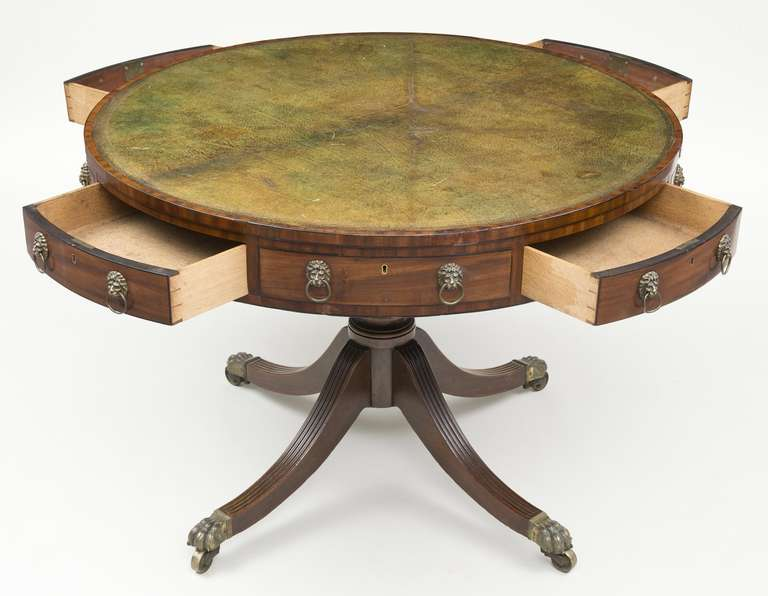19th Century Regency Drum Table, circa 1810 For Sale