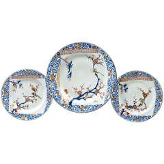 Set of Three Chinese Kangxi / Yongzheng Plates