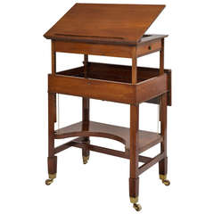 Very Rare George III Retractable Writing Table, circa 1790