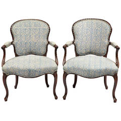 Pair of George III Mahogany Armchairs, circa 1770