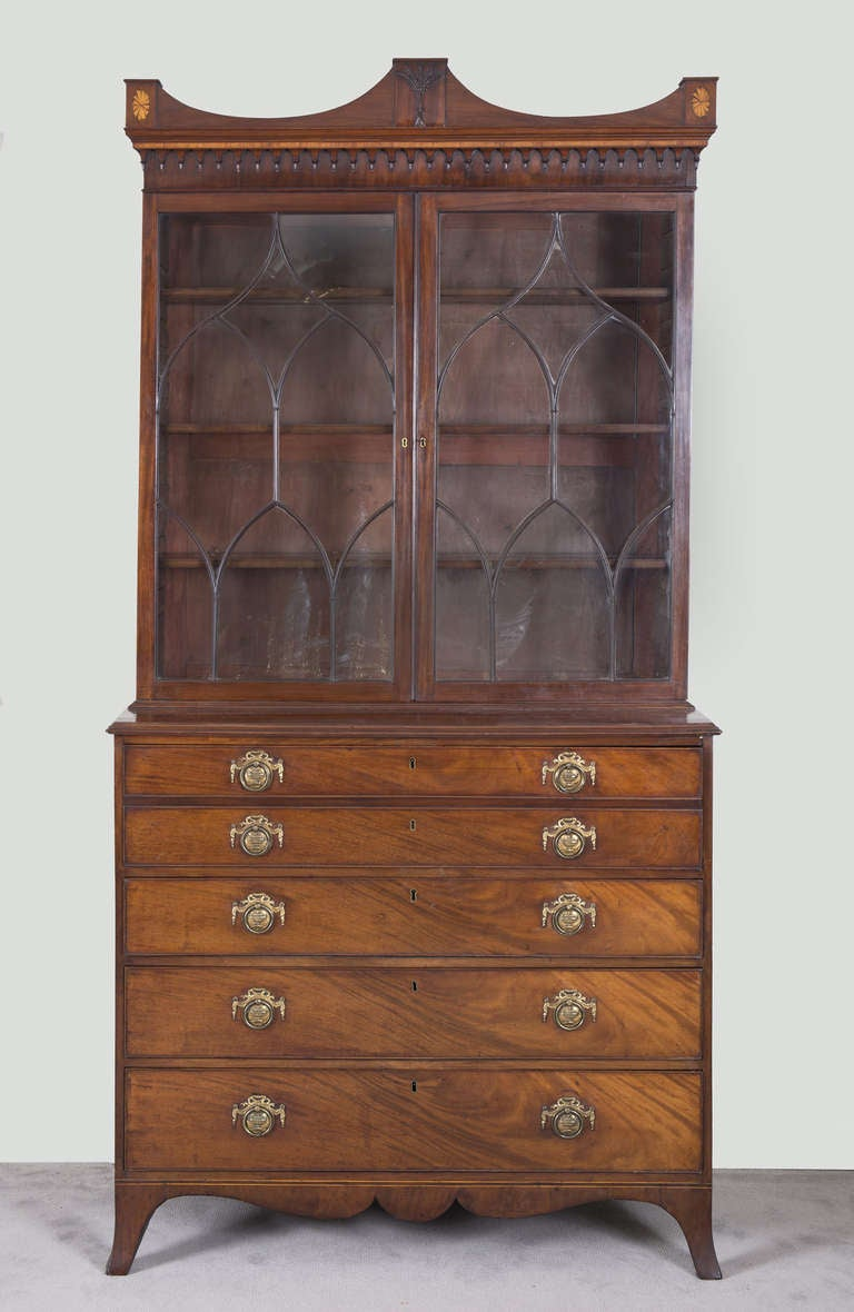 English George III Secretaire Bookcase For Sale 2