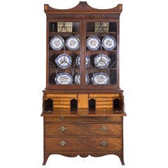 English George III Secretaire Bookcase