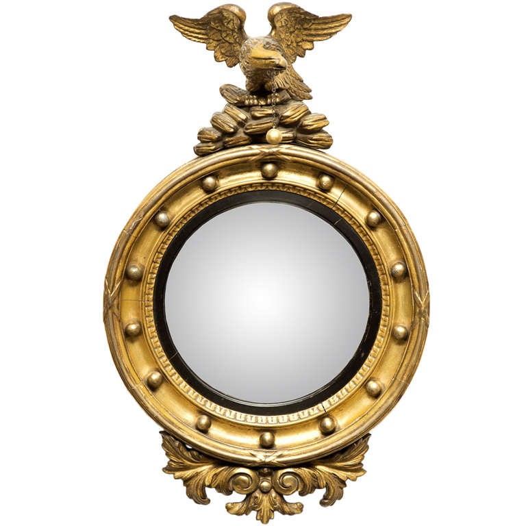 Antique regency convex mirror for sale at 1stdibs for Convex mirror for home