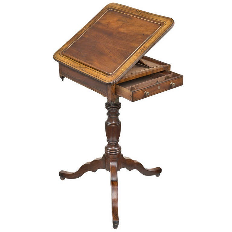 Regency Combination Reading and Writing Table