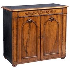 Irish Walnut Campaign Side Cabinet Labelled Ross & Co, Dublin, circa 1860