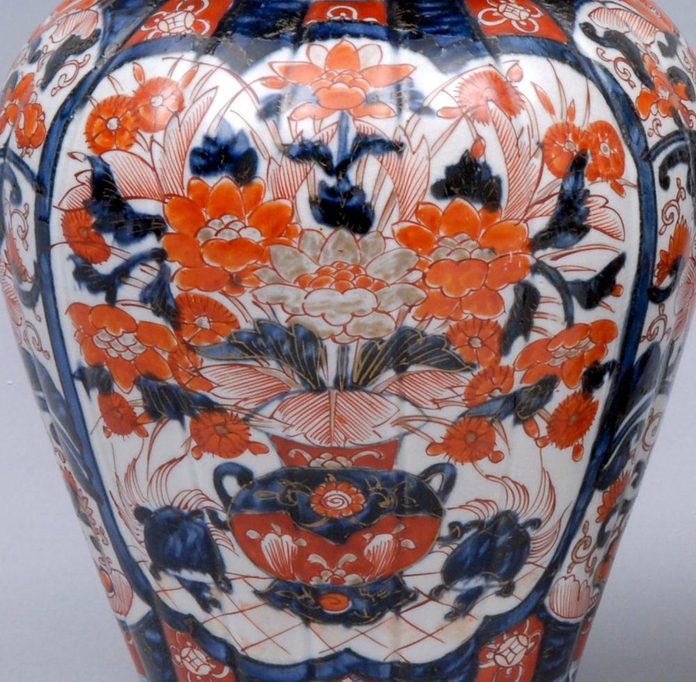 Pair Imari Lidded Vases 4