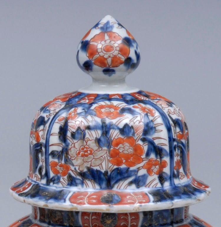Pair Imari Lidded Vases 5