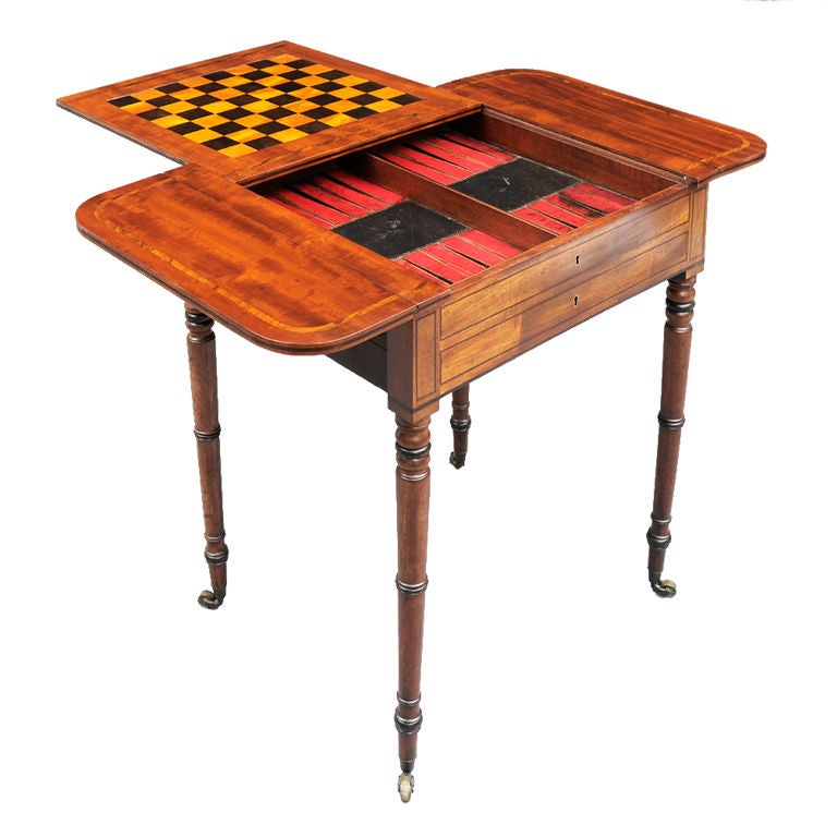 English Regency Games Table For Sale At 1stdibs