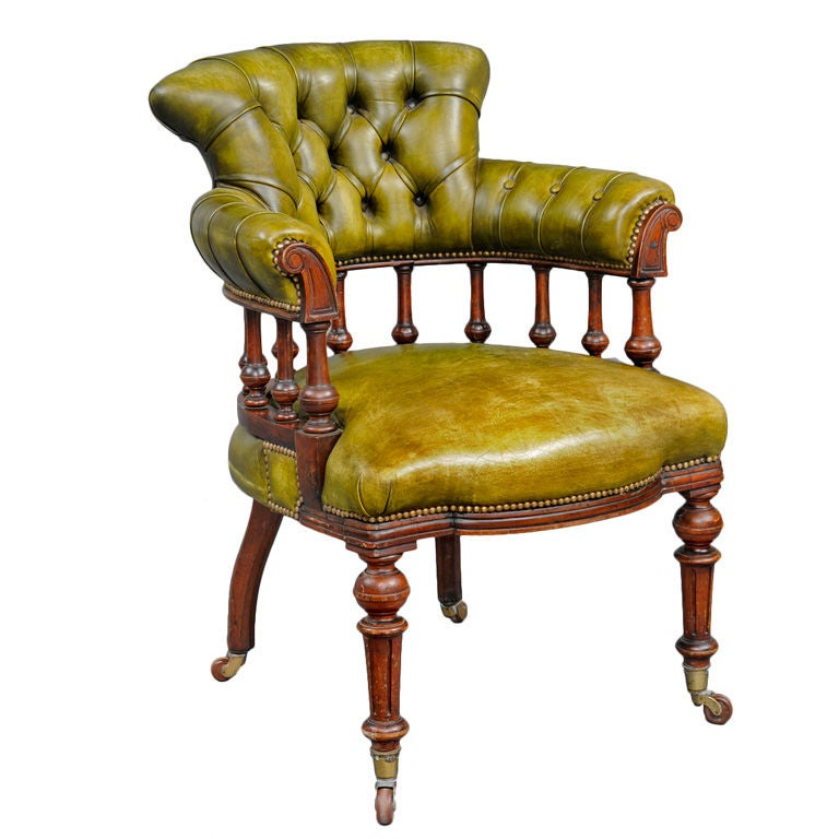 English Captain 39 S Desk Chair At 1stdibs