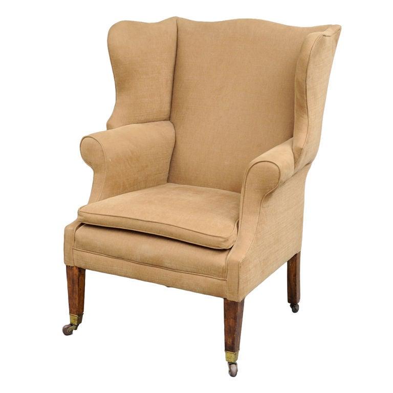 English Georgian Style Wing Chair