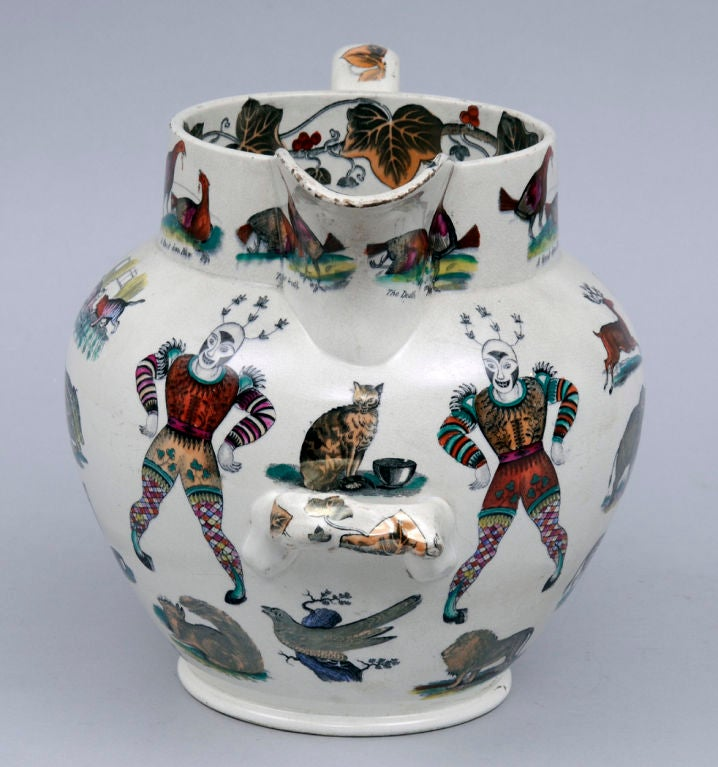 English Elsmore And Forster Circus Jug At 1stdibs