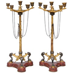 English Pair of Renaissance Revival Candelabra
