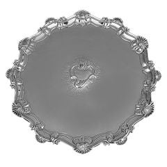 English George II Sterling Silver Salver