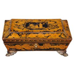 English Regency Penwork Games Box