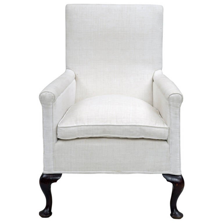 Upholstered High Backed Armchair, circa 1860