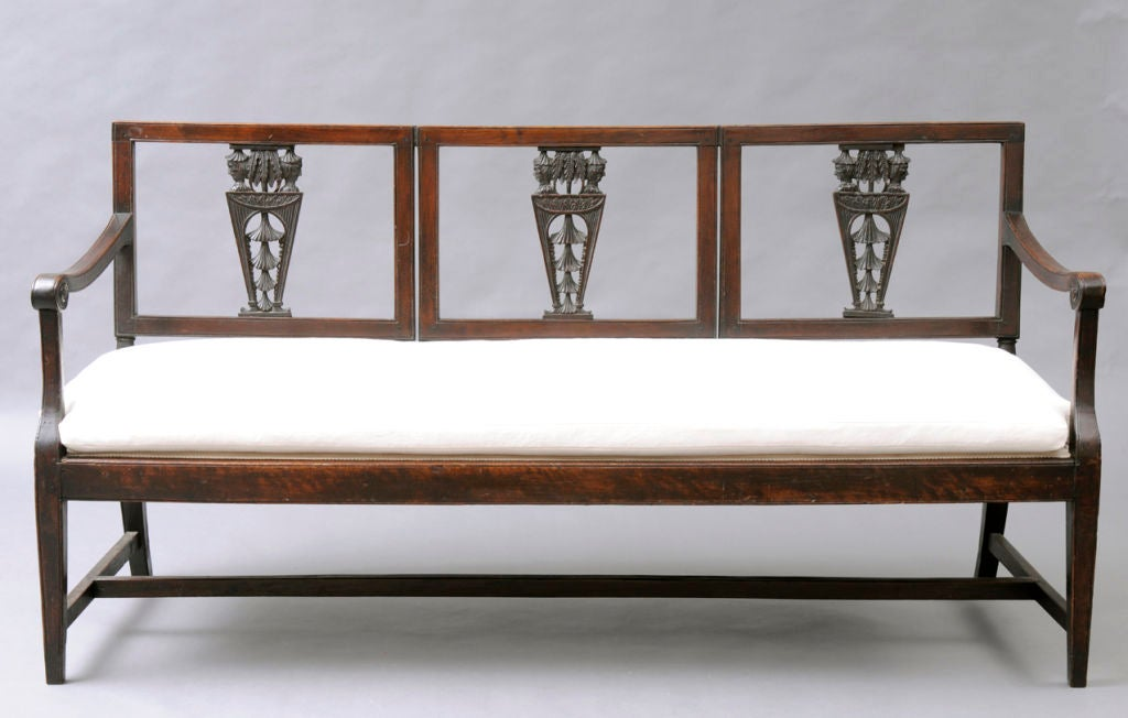 Italian walnuttriple chairback settee for sale at 1stdibs for Settees for sale