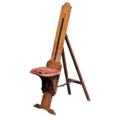 English Oak Easel and Seat Combination
