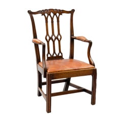 English Chippendale Style Armchair