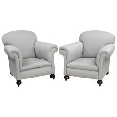 Pair of English Club Chairs