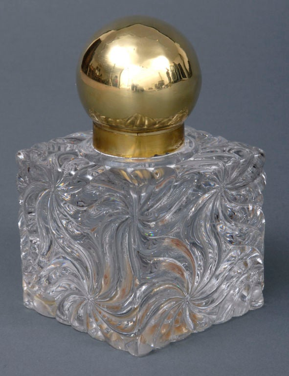 French Large Baccarat Inkwell 2