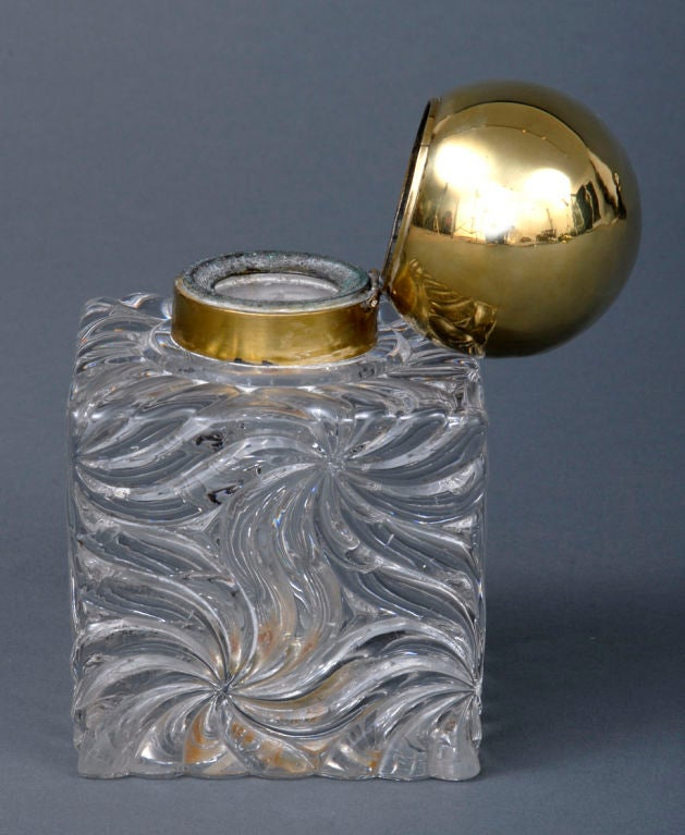 French Large Baccarat Inkwell 4