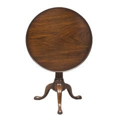 English George II Walnut Tripod Table