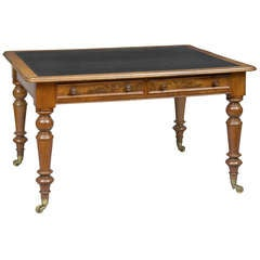 English Antique Mahogany Writing Table, circa 1840