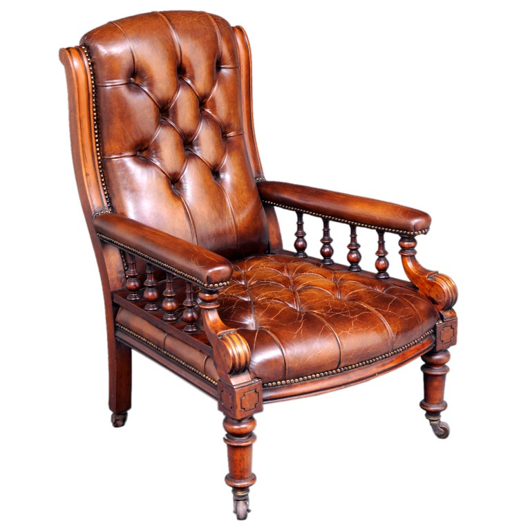 English Antique Library Armchair For Sale - English Antique Library Armchair For Sale At 1stdibs