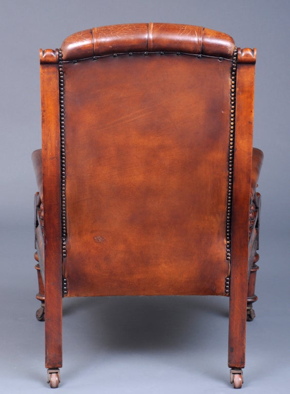 English Antique Library Armchair At 1stdibs