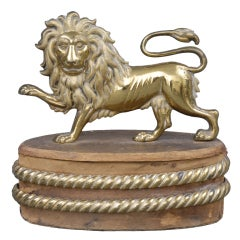English Gilded Lion Ornament