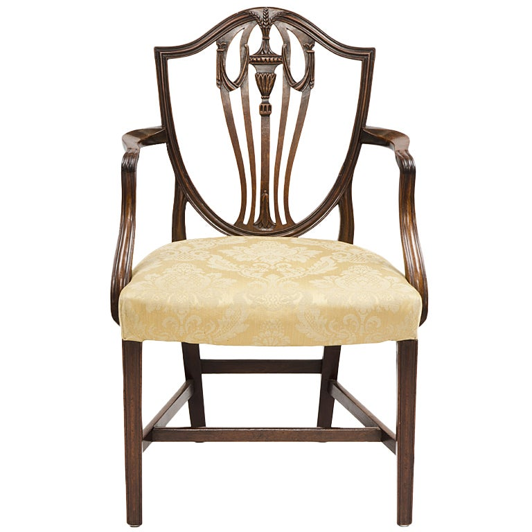 English Hepplewhite Period Armchair At 1stdibs