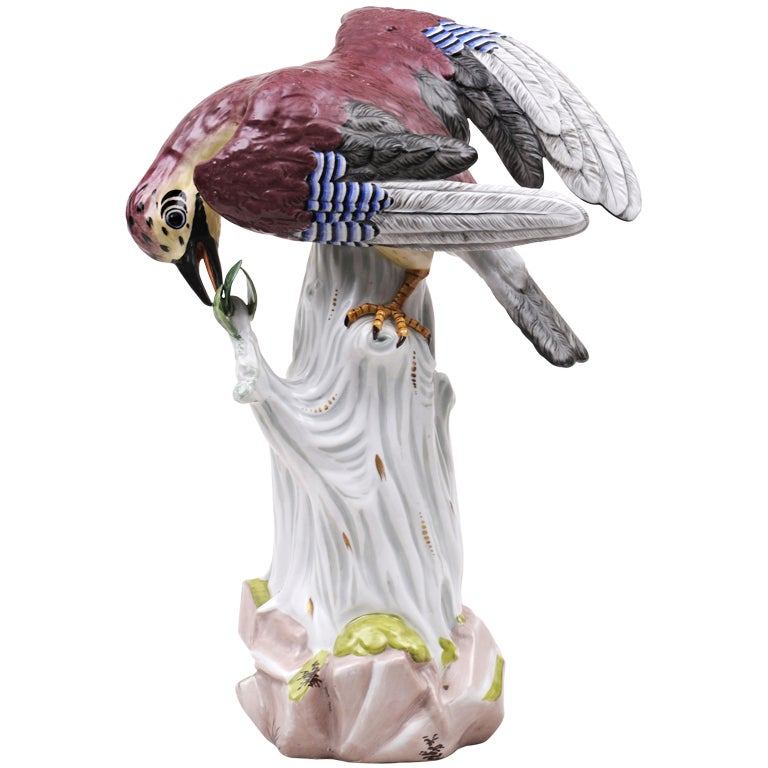 Dresden Porcelain Bird For Sale