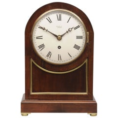 English Mahogany Bracket Clock