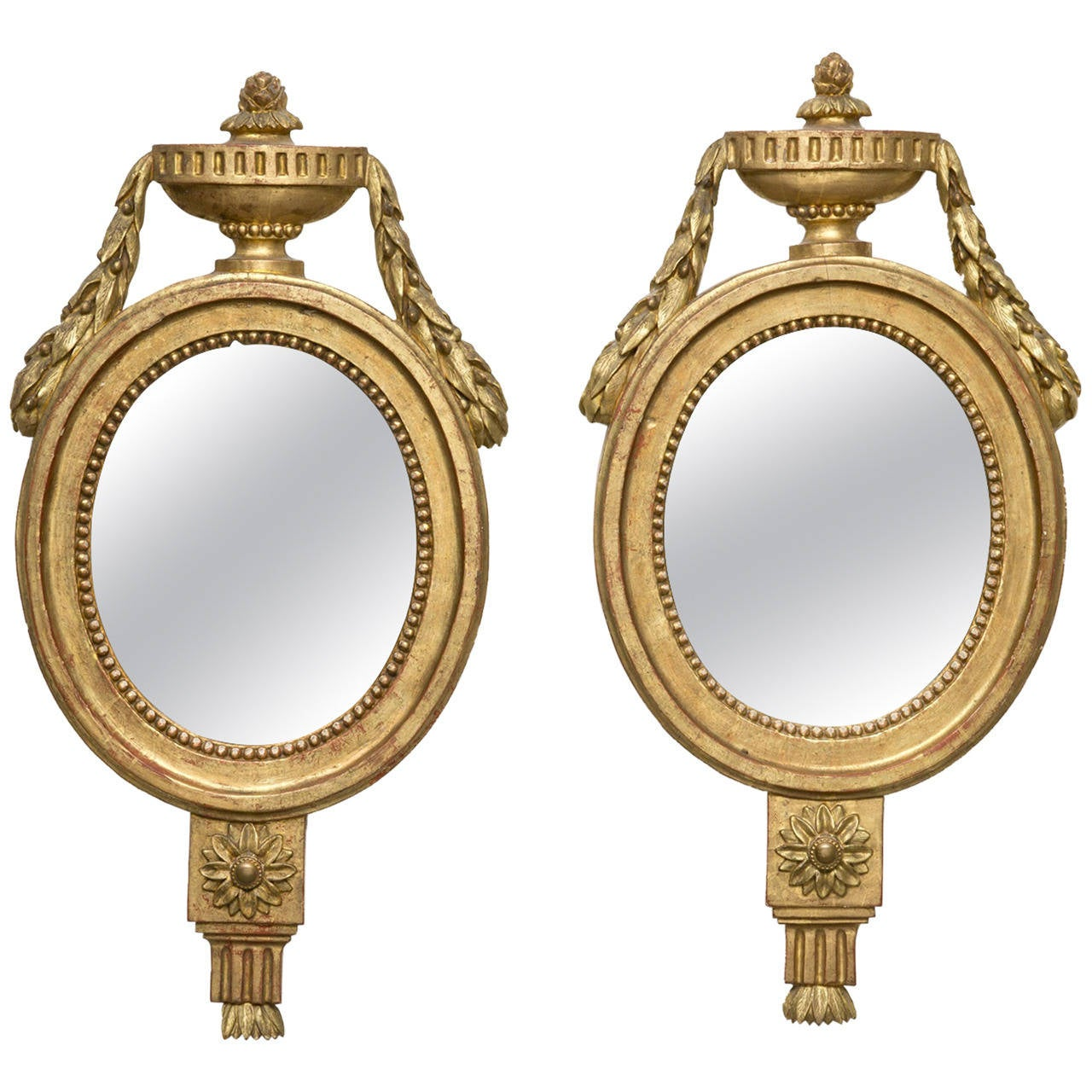 Pair of Italian Giltwood Mirrors, circa 1810