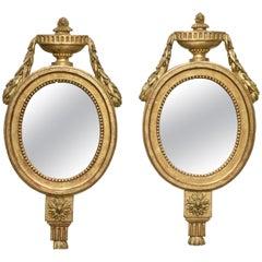 Pair of Italian Giltwood Mirrors, circa 1810