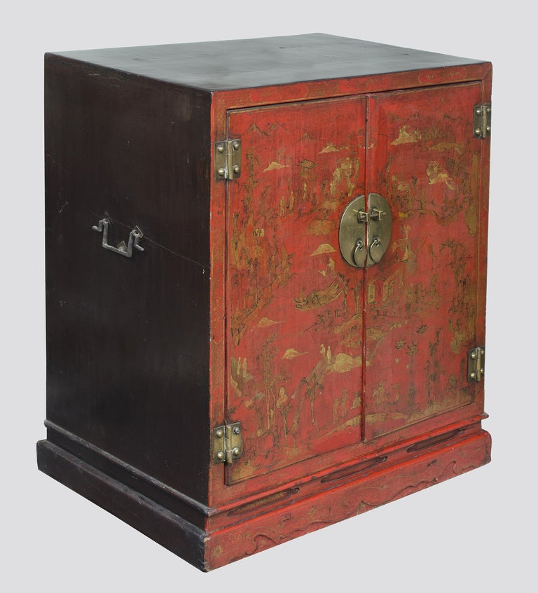 chinese red lacquer cabinet at 1stdibs