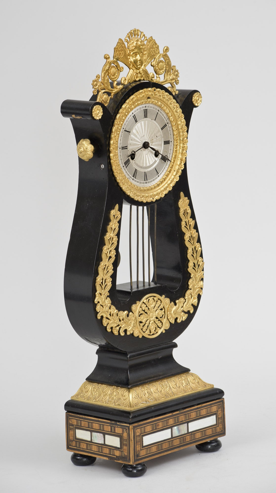 Napoleon III French Eight-Day Gilded Mantle Clock For Sale