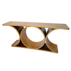 Jean Michel Frank Series Goatskin Lacquered Console by Karl Springer