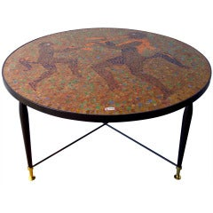 Glass Mosaic Table After Juan O'Gorman