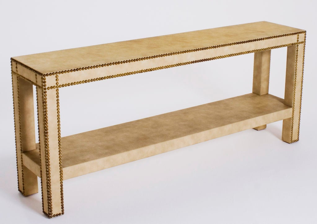 Faux Snakeskin Parsons Console Table At 1stdibs