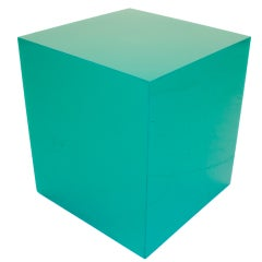 Emerald Green Lucite Lamp-table thumbnail 1