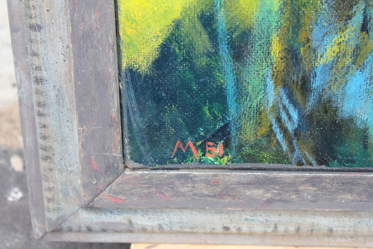 A vibrant oil on board by the noted artist William McCloy. It is titled on the frame