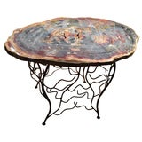 Arizona Petrified Wood Table With Artisan Made Base
