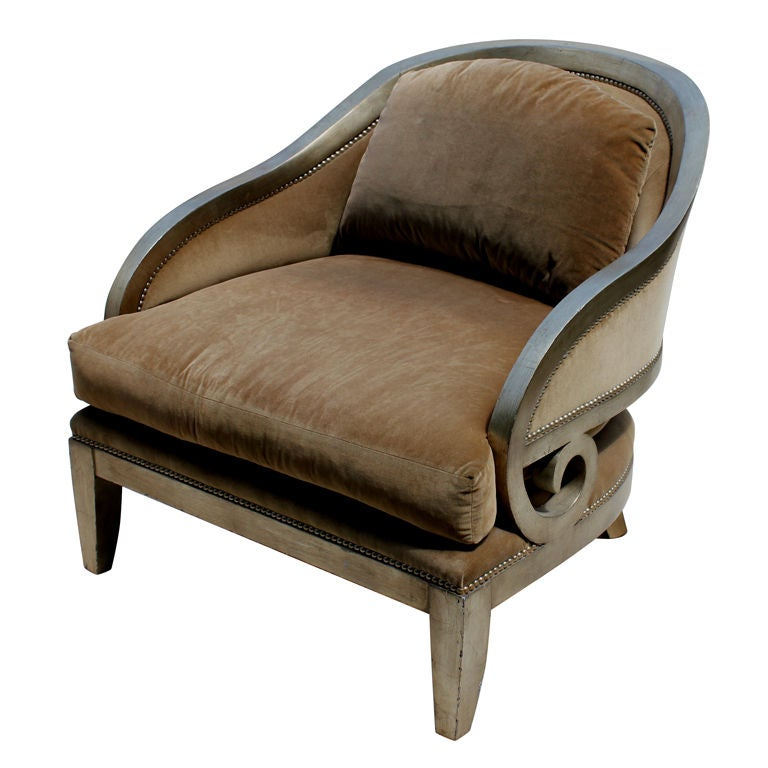Marge Carson Oversized Lounge Chair at 1stdibs