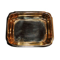 1950's Cartier solid gold tray or catchall
