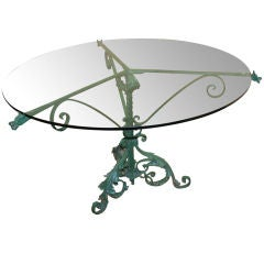 Wonderful  iron table in the manner of Samuel Yellin w/ dragons